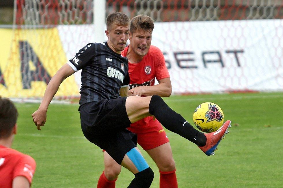 21.6.2020 - 25 kolo F:NL mezi domácí FC Zbrojovkou Brno (červená) a MFK Chrudim (černá)