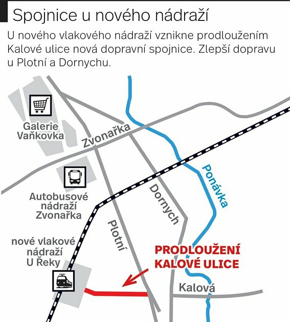 Spojnice unového brněnského vlakového nádraží uřeky Svratky.