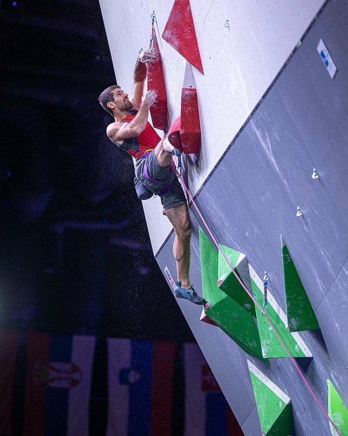 Lezec Martin Stráník si na mistrovství Evropy vMoskvě vedl nejlépe vobtížnosti.