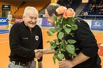Čestný prezident volejbalové klubu KP Brno Miroslav Jaskulka oslavil 85. narozeniny.