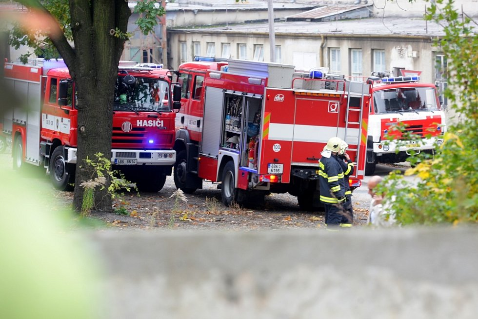 Požár haly v brněnském Zetoru.