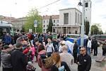 Slavnostní otevření tramvajové trati v Údolní ulici.