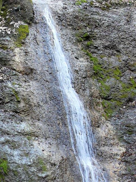 Mariánský potok - vodopád.