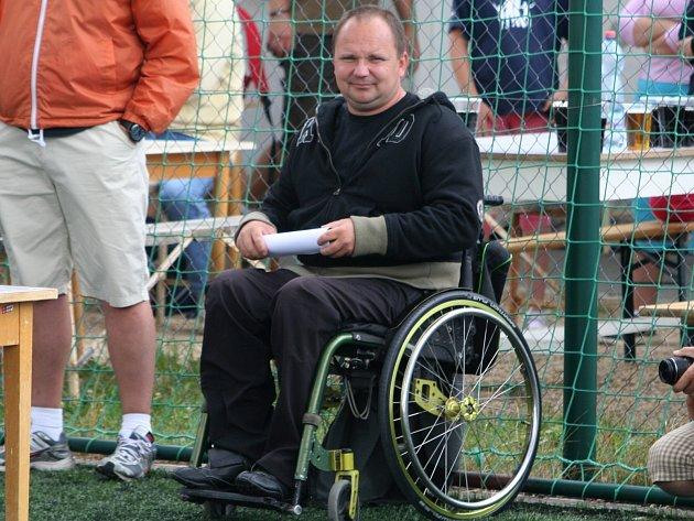 Zdeněk Macháček, trenér fotbalových Jevišovic.