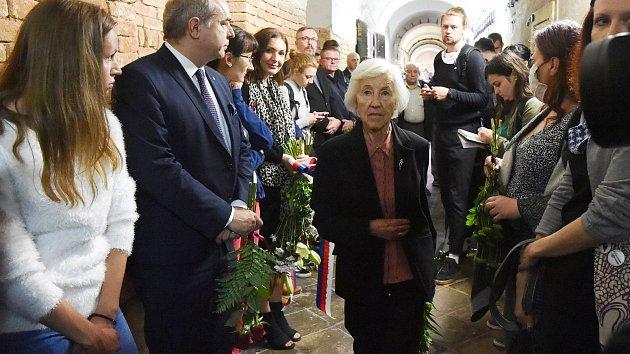 Pietní akt k výročí popravy Milady Horákové.