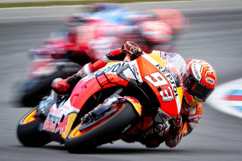 Finálový závod MotoGP Velká cena České republiky, závod mistrovství světa silničních motocyklů v Brně 4. srpna 2019. Na snímku Marc Marquez (SPA).