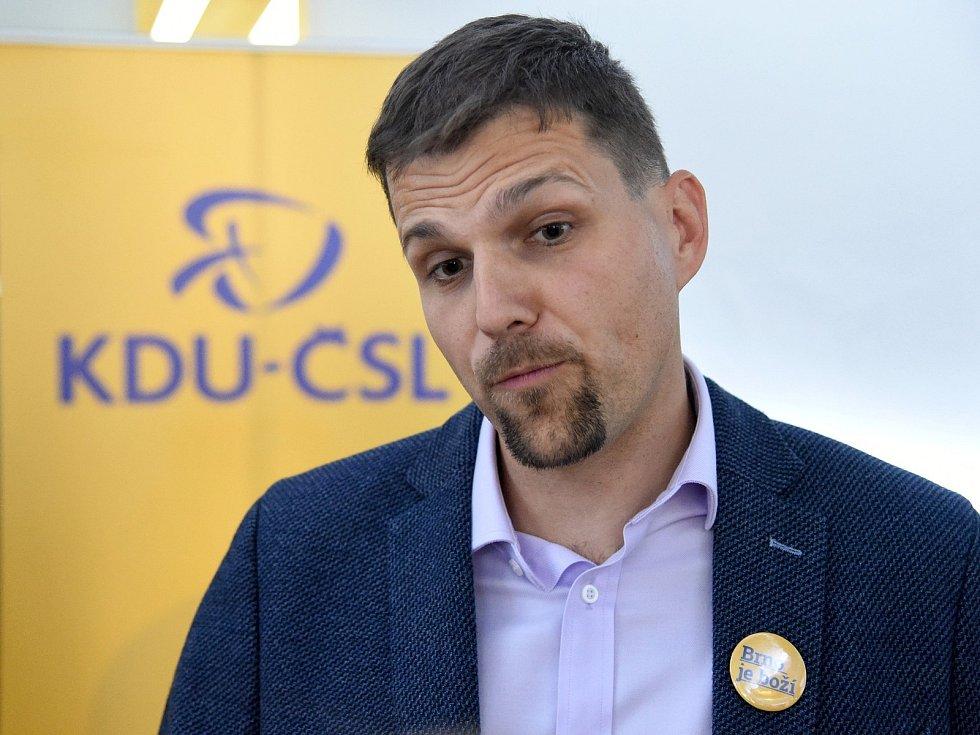 Volební štáb KDU-ČSL v Brně.