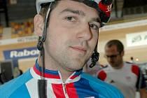 Dráhový cyklista Adam Ptáčník.
