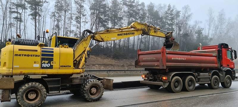 Modernizace dálnice D1 mezi 168. km a 178. km.