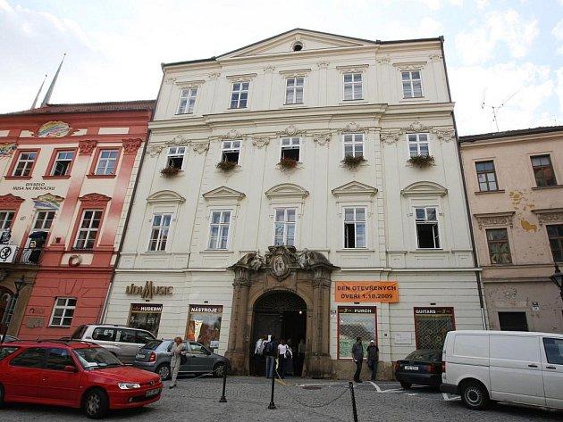 Lídlův dům na Zelném trhu v Brně.