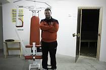 Kabiny fotbalistů brněnské Zbrojovky.