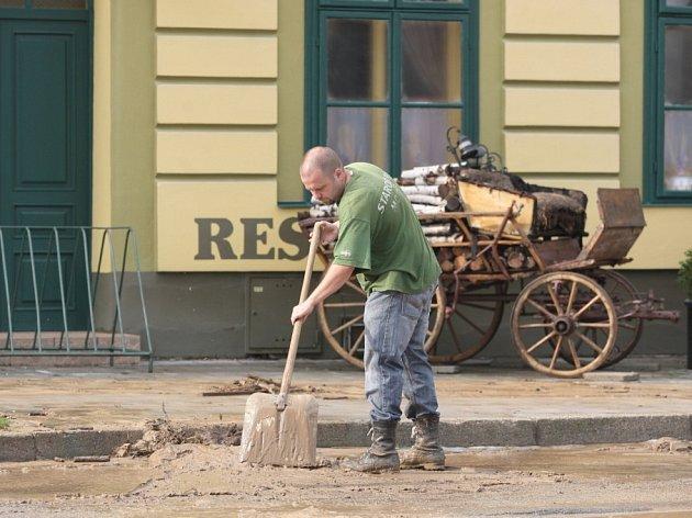 Silný déšť způsobil v neděli na Brněnsku řadu škod.
