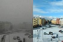 Předtím a potom. Rozdíl jen několika minut.
