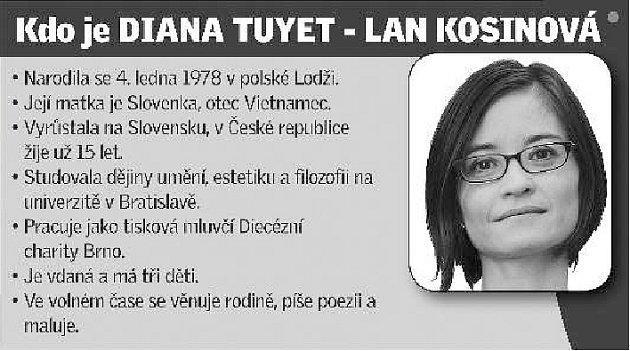 Mluvčí brněnské Diecézní charity Diana Tuyet - Lan Kosinová.