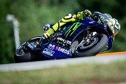 Finálový závod MotoGP Velká cena České republiky, závod mistrovství světa silničních motocyklů v Brně 4. srpna 2019. Na snímku Valentino Rossi (SPA).