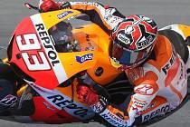 Marc Marquez na Velké ceně silničních motocyklů na Masarykově okruhu v Brně (pátek).
