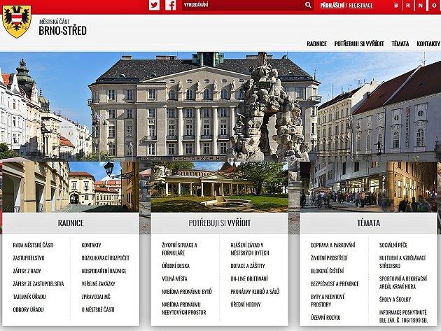 Webové stránky Brna-středu.