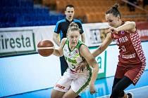 Basketbalistky KP Brno se v minulém ročníku EuroCupu předvedly v domácí hale ve Vodově ulici.