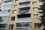 Požár bytu v brněnských Bohunicích.