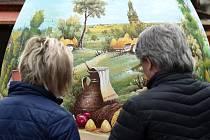 Velikonoční trhy na brněnském náměstí Svobody.