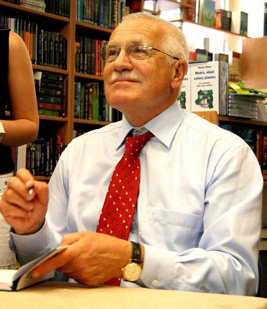 Autogramiáda prezidenta Václava Klause