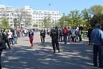 Plošné testování v parku na Moravském náměstí v Brně.