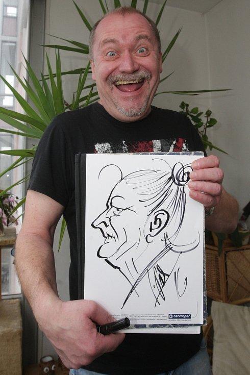 Kreslené vtipy pětapadesátiletého umělce Lubomíra Vaňka lidé pravidelně nachází i na stránkách Brněnského deníku Rovnost.