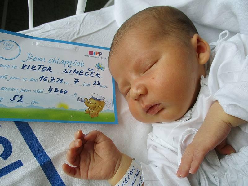 Viktor Šimeček, 16. 7. 2021, Břeclav, Nemocnice Břeclav, 4360 g, 52 cm