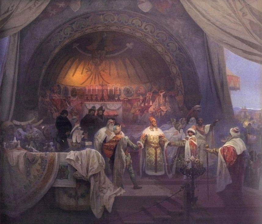 Přemysl Otakar II., král železný a zlatý, Alfons Mucha.