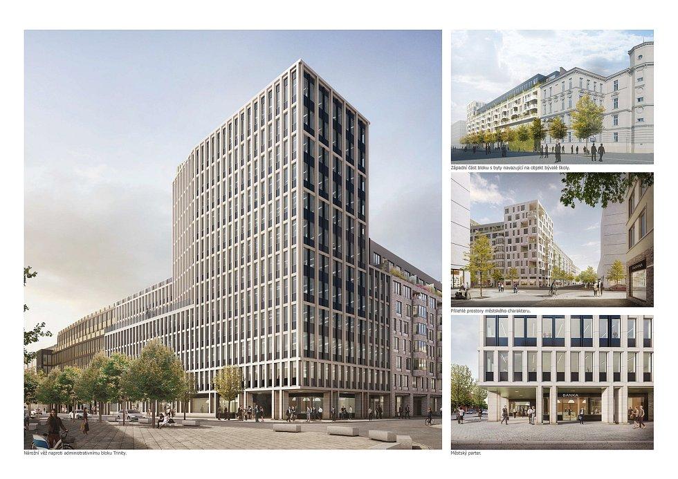 Metropolitní blok Trnitá (stavba a dopravní řešení v sousedství nového brněnského hlavního nádraží).