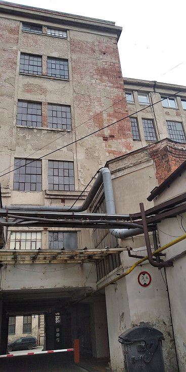 Areál bývalé textilní továrny Mosilana.