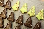Příprava vánočního cukroví v brněnské cukrárně Pusinka.