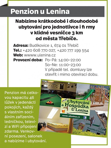 Penzion ULenina, Budíkovice