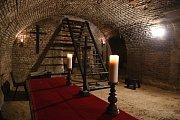 Muzeum mučicích nástrojů a útrpného práva v brněnském paláci Padowetz.