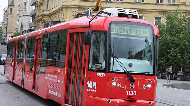 Tramvaj na náměstí Svobody v Brně.