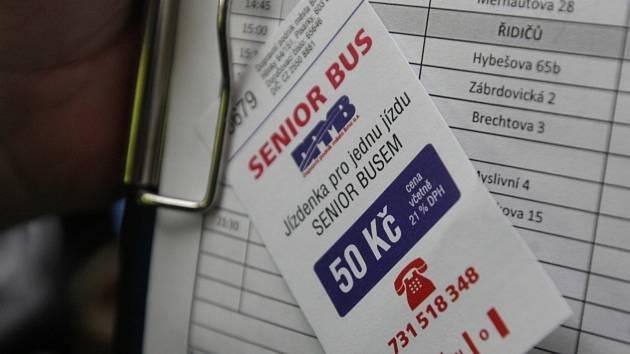 Seniorbus v Brně. Ilustrační foto.
