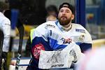 HC Kometa Brno v modrém (Marek Čiliak) proti HC Sparta Praha.