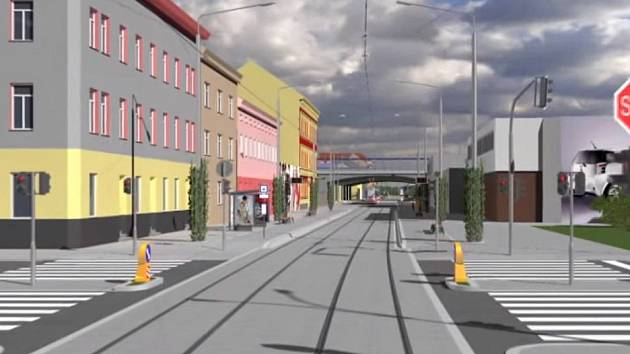 Vizualizace nové podoby Plotní ulice.