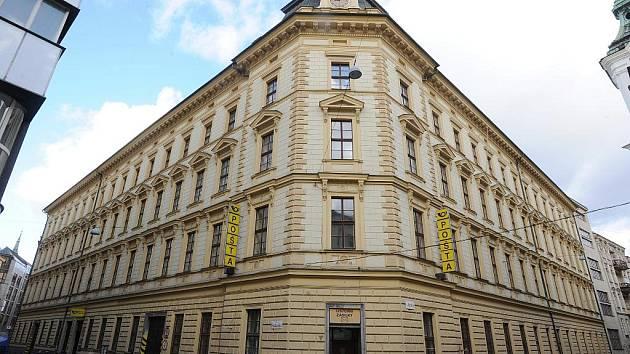 Archivní foto pobočky České pošty v Poštovské ulici v Brně z počátku roku 2012.