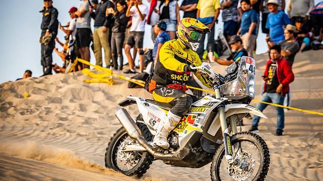 Jan Brabec na letošním Dakaru.