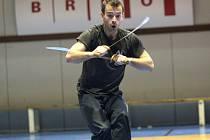 Shaolinská exhibice v Brně vzdala hold čínskému mistrovi kung fu.