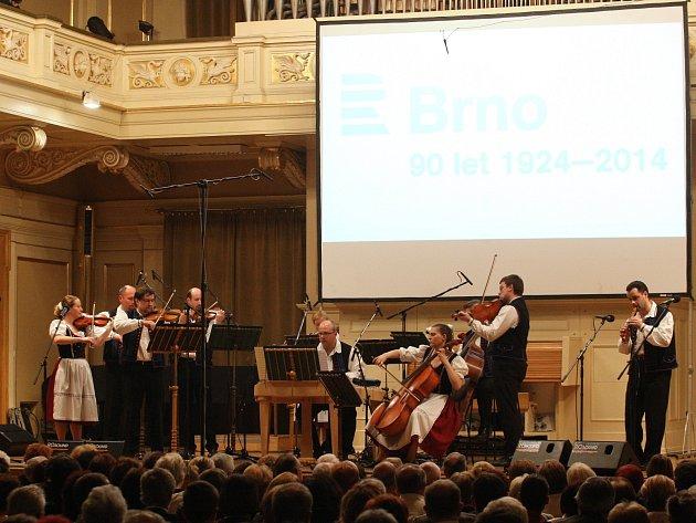 KOncert k výročí devadesáti let Českého rozhlasu Brno.