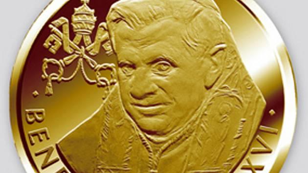 Oficiální pamětní medaile k příležitosti návštěvy papeže Benedikta XVI. České republiky.