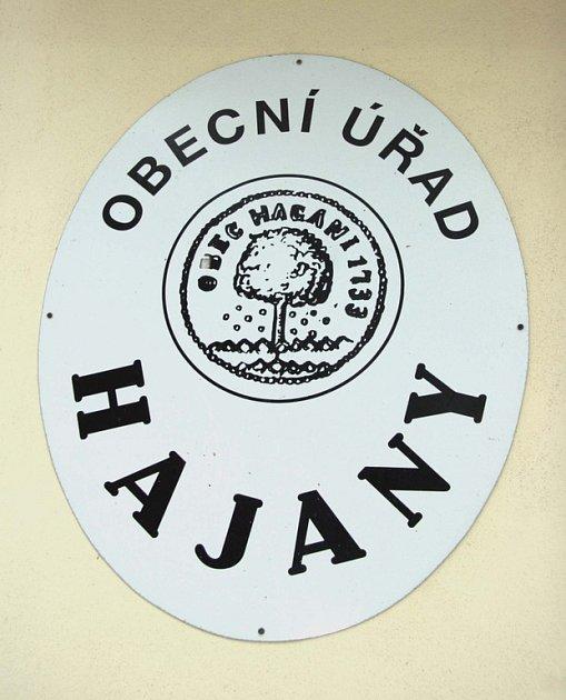 Znak obce Hajany na Brněnsku