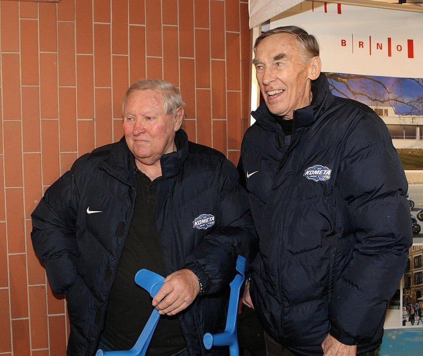 Hokejová legenda Jaromír Meixner (vpravo) volá po odchodu Milana Hniličky z pozice předsedy Národní sportovní agentury.