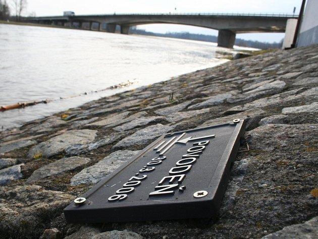 Řeka Morava na Břeclavsku.