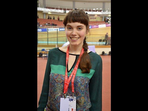 Specialistka na mezinárodní vztahy Ruské cyklistické federace Arina Parchomová.