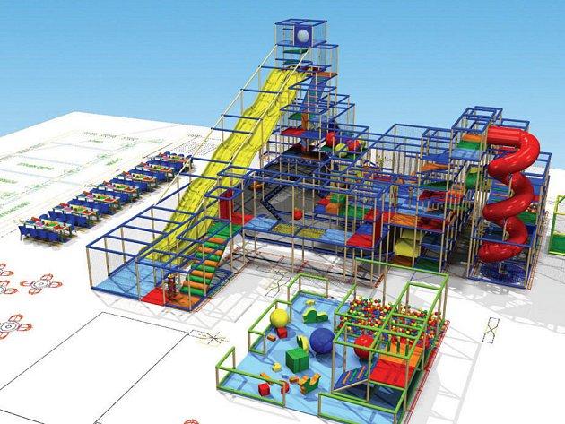 Vizualizace dětského centra Bongo.
