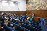 Předání ocenění nejlepším vědcům, pedagogům a studentům Masarykovy univerzity v Brně.