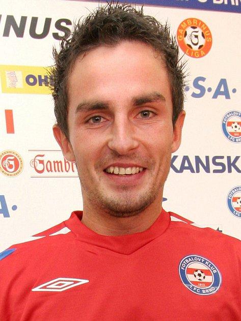 Hráč 1.FC Brno David Kalivoda.